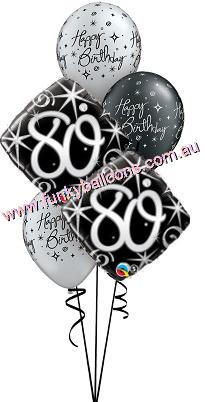 80th Elegant Sparkles Swirls Bouquet